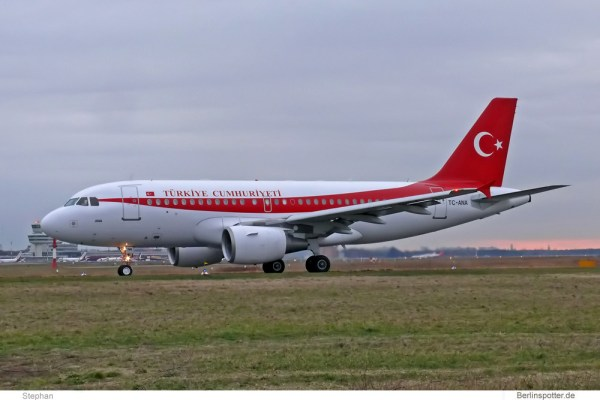 Turkish Gvmt., Airbus A319CJ TC-ANA (TXL 8.2.2008)