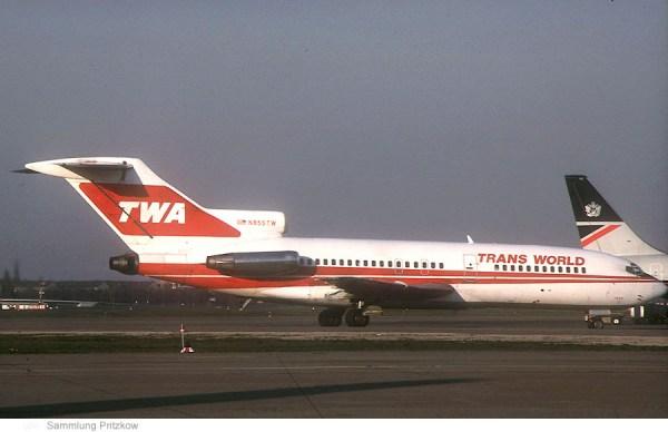 Trans World Airlines, Boeing 727-31 N855TW (TXL 1990)