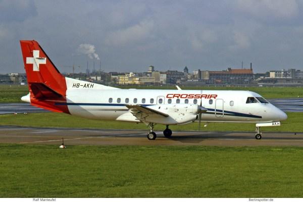 Crossair, Saab 340B HB-AKH (THF 04/1991)