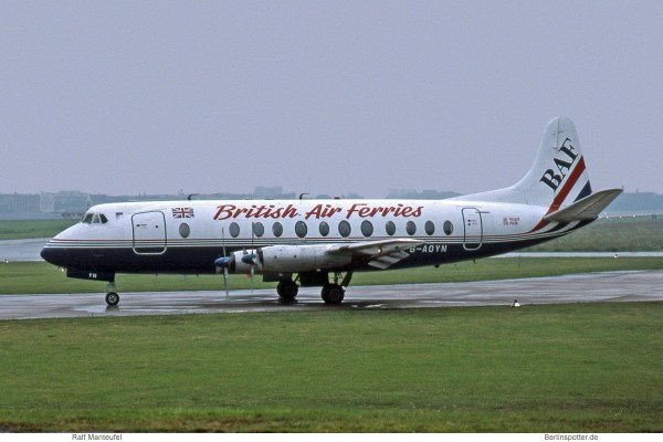 British Air Ferries, Vickers Viscount 806 G-AOYN (THF 30.8.1993)
