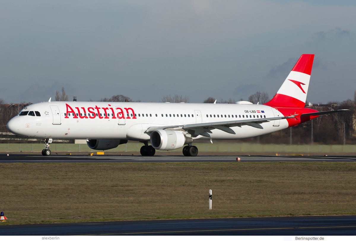 Austrian Airlines Airbus A321-200 OE-LBD