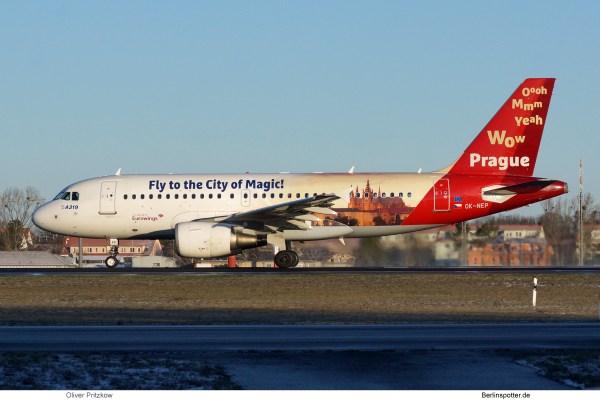 CSA Czech Airlines, Airbus A319-100 OK-NEP (TXL 18.1.2019)