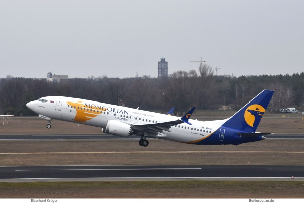 Mongolian Airlines Boeing 737 MAX 8 EI-MNG (TXL 21.2.2019)