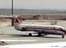 Turkish Airlines, McDonnell-Douglas DC-9-32 TC-JAL (SXF 16.4.1977)