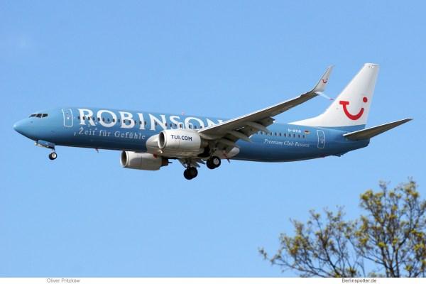 TUIfly, Boeing 737-800(WL) D-ATUI, Robinson Club cs. (TXL 31.3.2019)