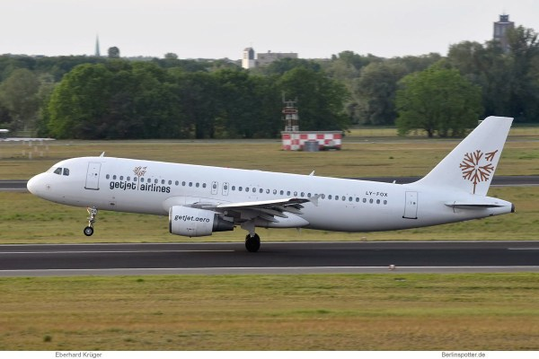 GetJet Airlines, Airbus A320-200 LY-FOX (TXL 23.5.2019)