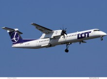 LOT Polish Airlines, Bombardier Q400 SP-EQB (TXL 7.4.2019)