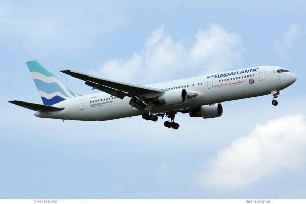 EuroAtlantic Airways, Boeing 767-300ER CS-TSV (TXL 19.6.2019)