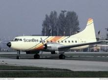 ScanBee Scandinavian Beeline, Convair CV-340-32 SE-GTE (SXF 14.10.1978)