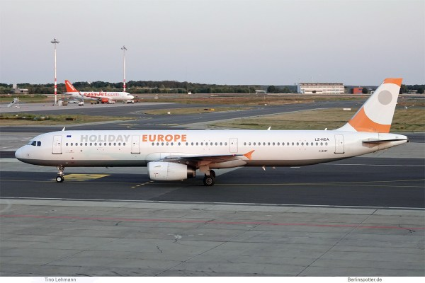 Holiday Europe, Airbus A321-200 LZ-HEA (SXF 10.9.2019)