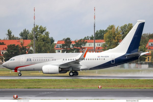 Government of the Netherlands, Boeing 737-700(BBJ) PH-GOV (TXL 1.10.2019)