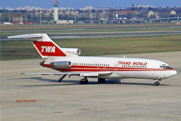TWA Trans World Airlines, Boeing 727-31 N844TW (TXL 04/1989)