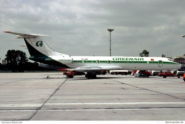 Greenair, Tupolev Tu-134A-3 TC-GRE (SXF 12.4.1992)