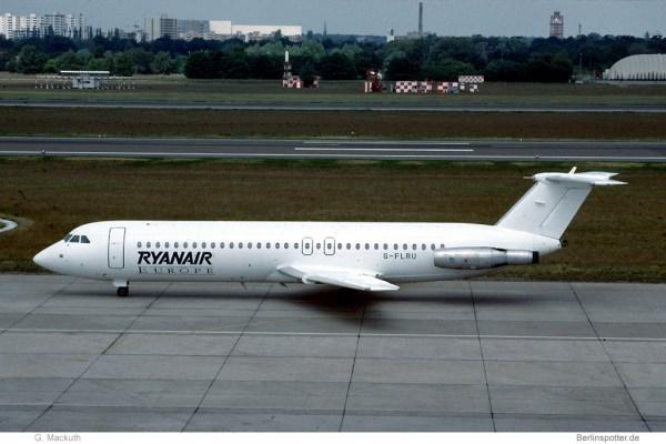 Ryanair Europe, BAC 1-11-518FG G-FLRU (TXL 05/1990)