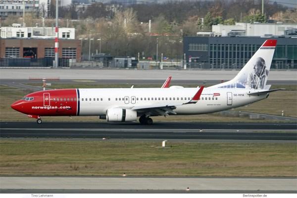 Norwegian Air Sweden, Boeing 737-800(WL) SE-RPA, Roald Dahl im Tail (SXF 4.2.2020)