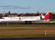 Air Nostrum – Iberia Regional, Bombardier CRJ1000 EC-MXA, Valencia CF-Centenary cs. (TXL 5.2.2020)