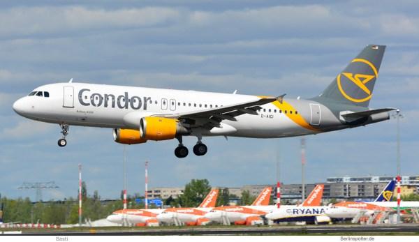 Condor, Airbus A320-200 D-AICI (SXF 25.4.2020)