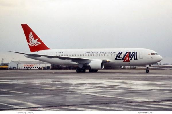 LAM Linhas Aéreas de Mocambique Boeing 767-200ER EI-CEM (SXF 1992)