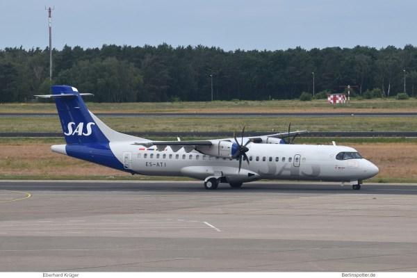 SAS Scandinavian (opb Xfly), ATR 72-600 ES-ATI (TXL 30.6.2020)