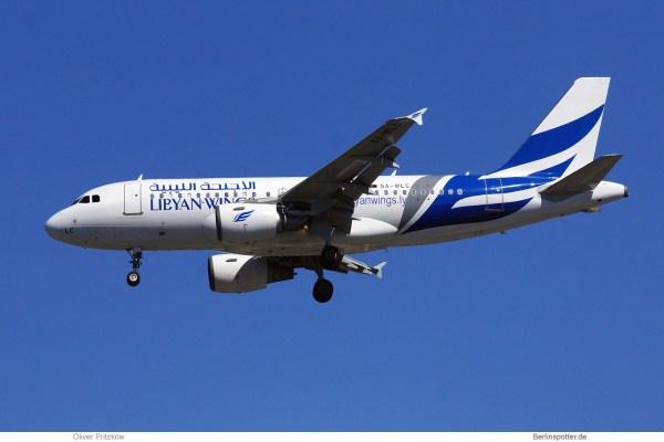 Libyan Wings, Airbus A319-100 5A-WLC (TXL 30.7.2020)