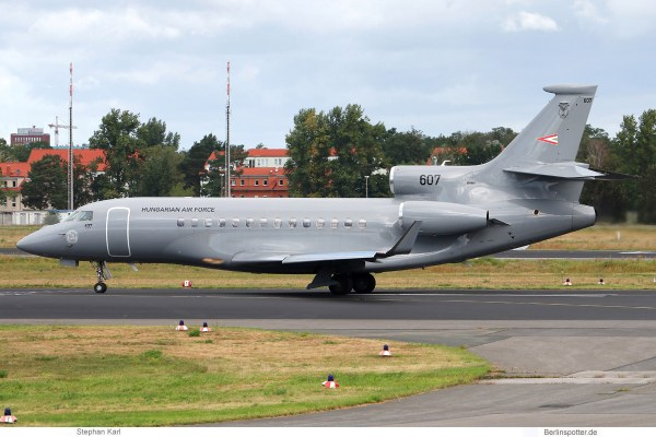 Hungarian Air Force, Dassault Falcon 7X '607' (TXL 27.8.2020)