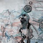 """Galleri Heike Arndt DK Berlin - Artist: jussi Jääskeläinen, title: """"Storm Is Approaching"""", 150x80cm"""