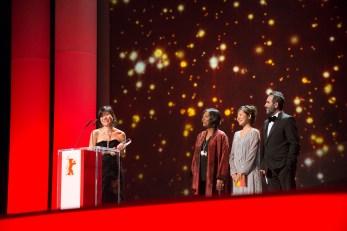 Momoko Seto receiving the Audi Short Film Award