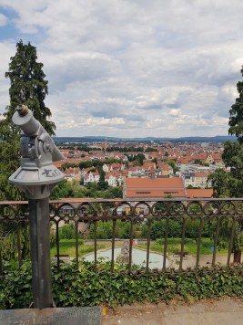 Panoramic views over Bamberg from Michaelsberg's gardens
