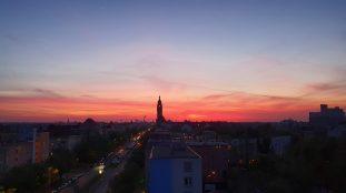 Berlin Charlottenburg Rathaus Nachthimmel (keine Bearbeitung!)