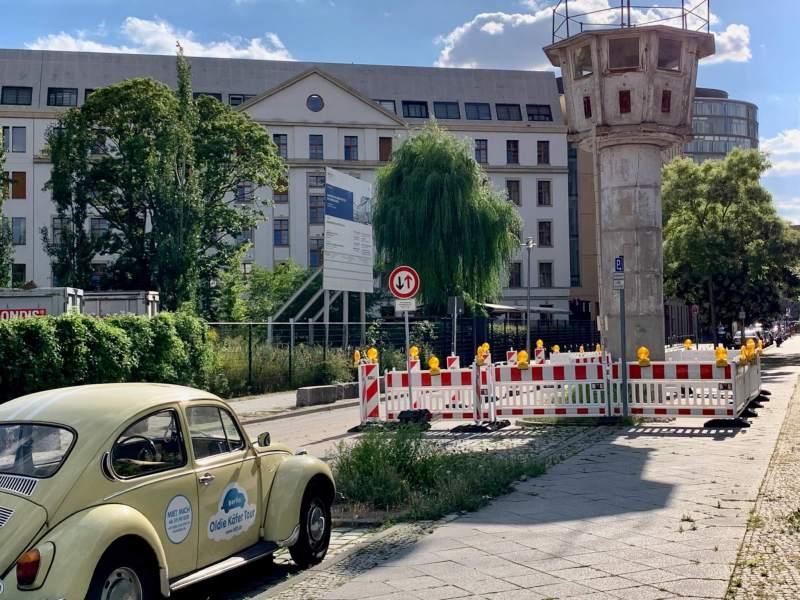 DDR vagttårn ved Potsdamer Platz