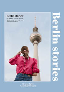 Berlin Stories - ny guidebog af Caroline Sølver