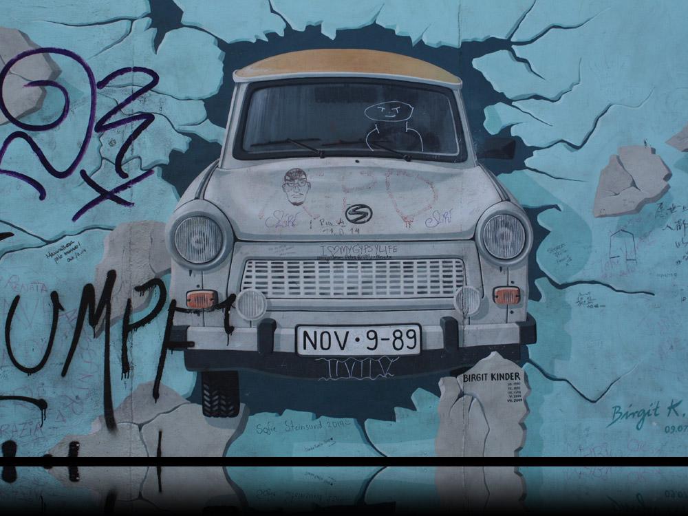 Berlinerblog.dk - Trabi, Eastside Gallery