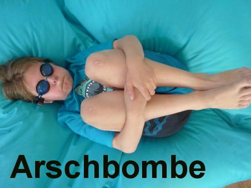 Militaristic German words: Arschbombe