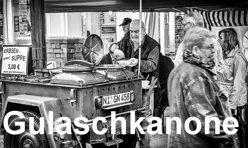 Militaristic German words: Gulaschkanone