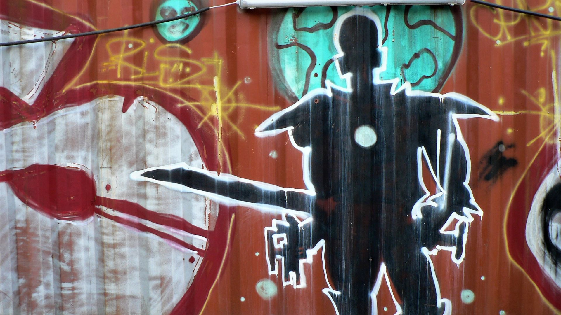 03498 | berliner mauern | berlin, graffiti, space warrior
