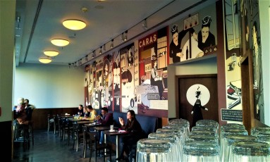 The rear wing of the Café Caras looking onto the Leipziger Platz