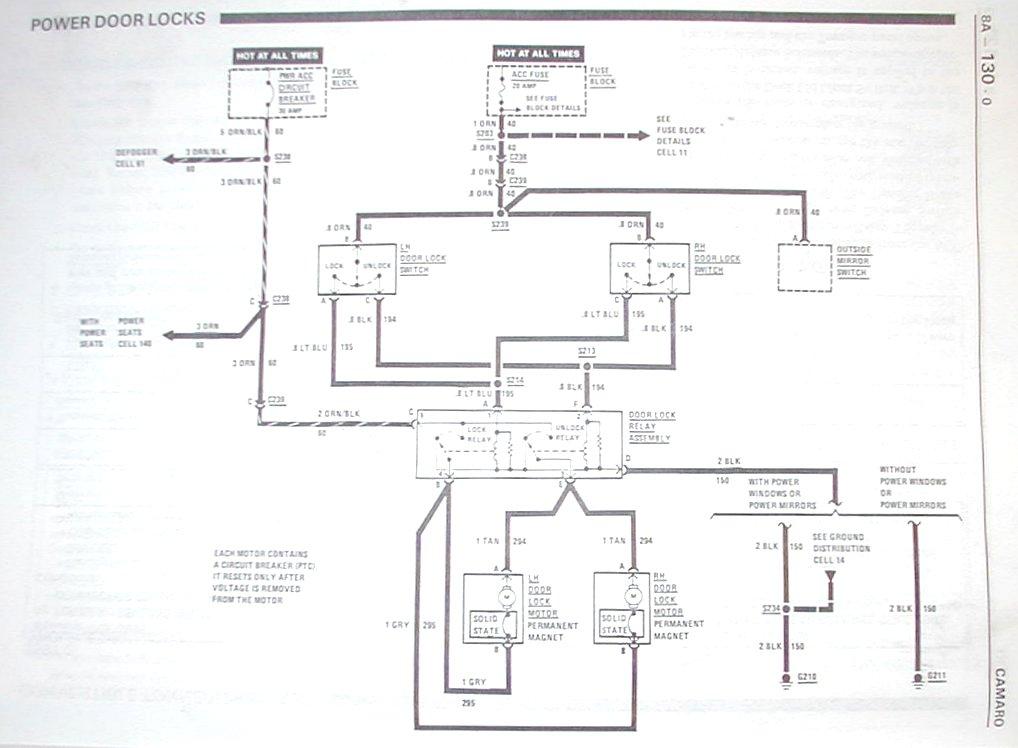 Power Door Lock Wiring Diagram C3 Corvette 79 Corvette