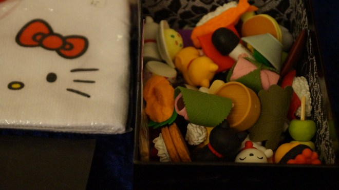 Erasers. According to my Japan- crazy friend, they are pretty much useless but they look deliciously cute, don't they?
