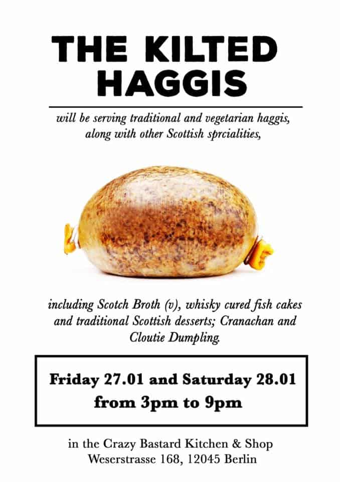 BERLIN LOVES YOU The Kilted Haggis Menu