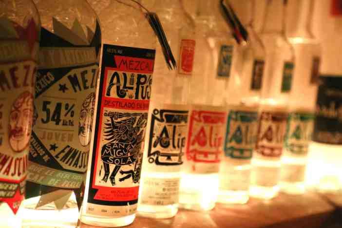 Tentacion Mezcalothek Mezcal bottles