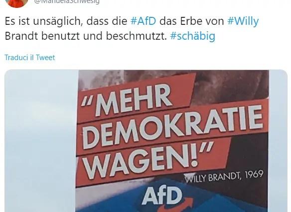 Schweisig screenshot twitter