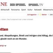 screenshot der Spiegel