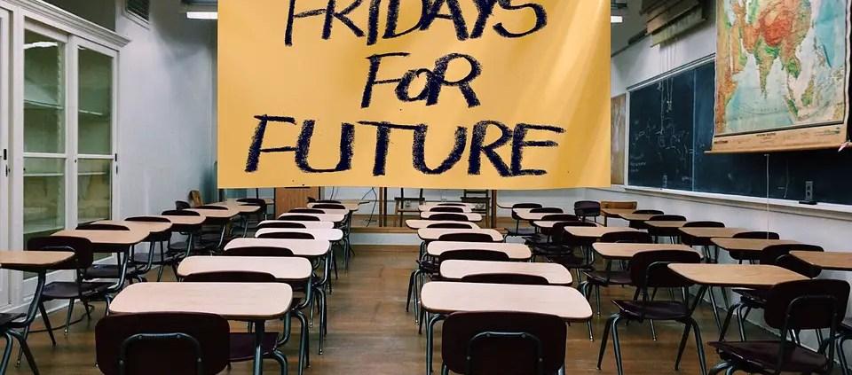 Fridays for future, ©https://pixabay.com/it/photos/klimastreik-schulstreik-scuola-4113372/
