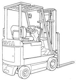 Toyota Electric Forklift Truck Service Maintenance Repair