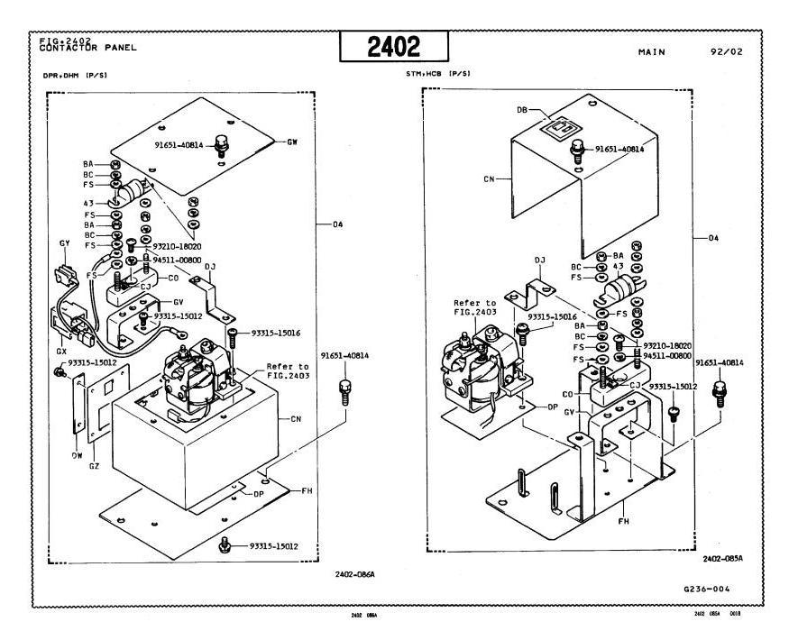 Toyota 5FBC18, 5FBC20, 5FBC25, 5FBCH20, 5FBCH25 Electric