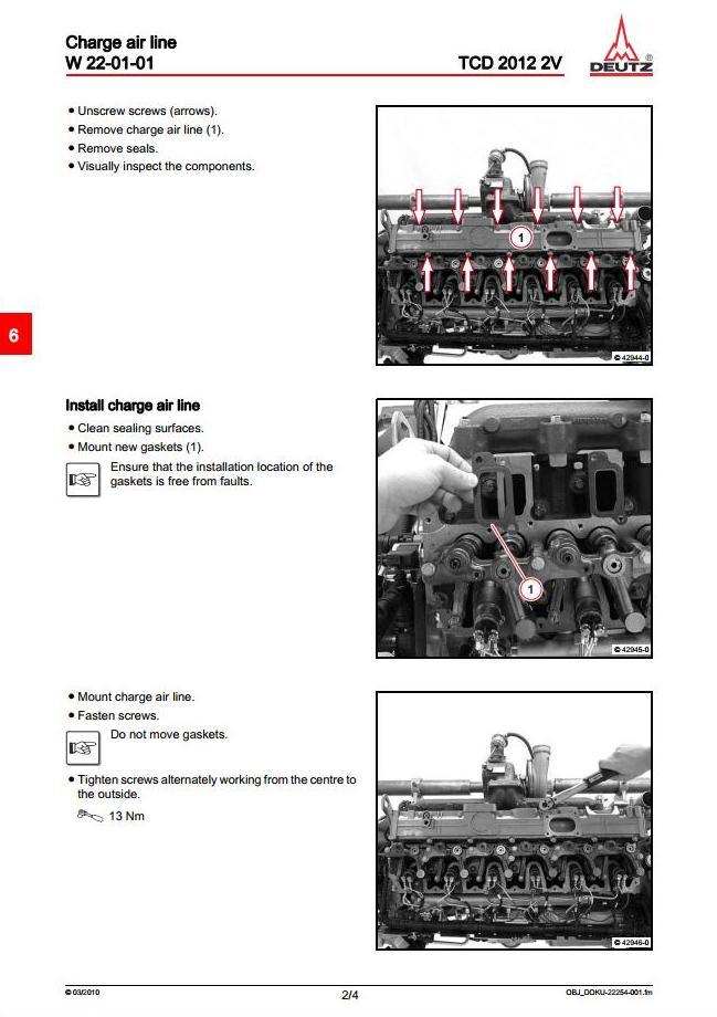 Deutz TCD 2012 2V Industrial Diesel Engine Workshop