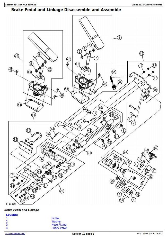 John Deere 544J 4WD Loader (SN. from 611800) Service
