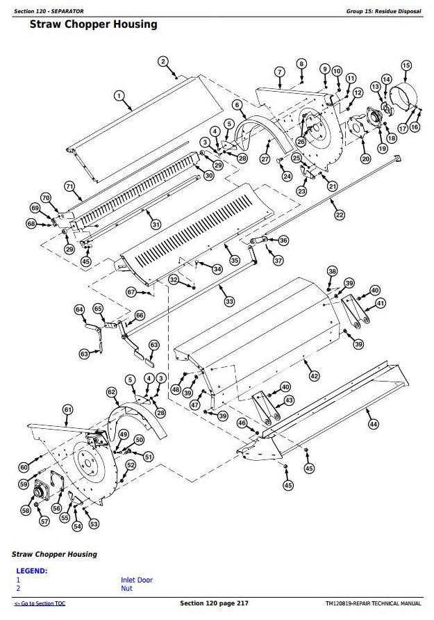 John Deere S650, S660, S670, S680, S685, S690 STS Combines