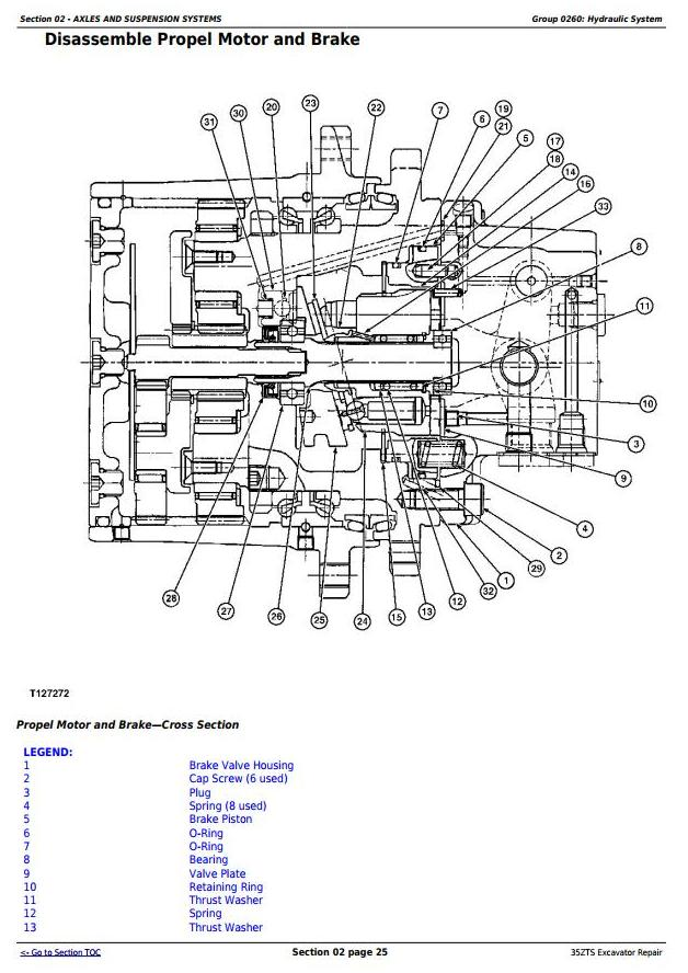 John Deere 35ZTS Compact Excavator Service Repair
