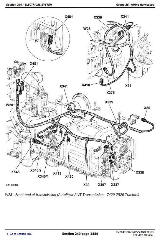 John Deere 7220, 7320, 7420, 7520 2WD or MFWD Tractors